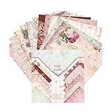 Origami De Papel De La Vendimia Papel Duradera Libro De Recuerdos Floral Cartulina DIY 15 * 15cm Tarjeta Álbum De Recortes De Papel 24pcs