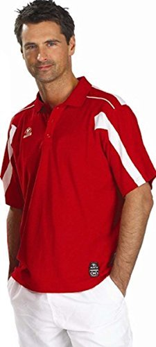 Masita Torino Fußball Sport Trikot Team-Kleidung Kurzärmelig Fußball Polohemd - Rot, Small