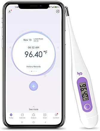 High Precision Thermometer for Fever 1 100th Degree Digital Body Thermometer with Memory Recall product image