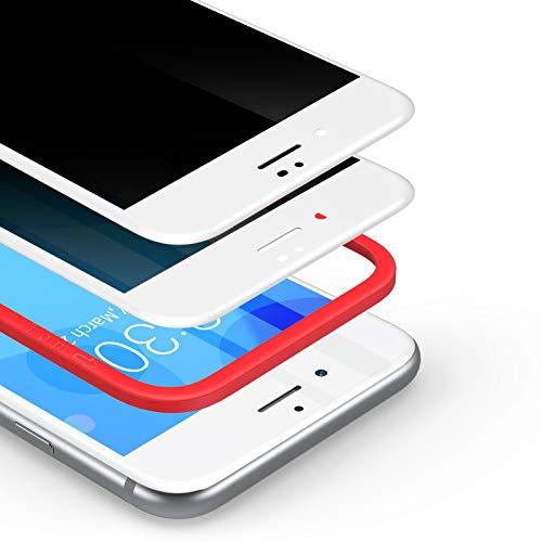 BANNIO 2 Unidades Protector Pantalla Antiespias para iPhone SE 2020/iPhone 7/iPhone 8,3D Cobertura Completa Privacidad Cristal Templado para iPhone SE 2020/7 /8,Anti Espía Vidrio Templado,Blanco