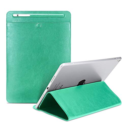 Universal PU Leather Stand Cover Tablet Padfolio Case for iPad Pro Air 1 2 3 4 Mini and Other 9-11 Inch Sleeve Case (Green)