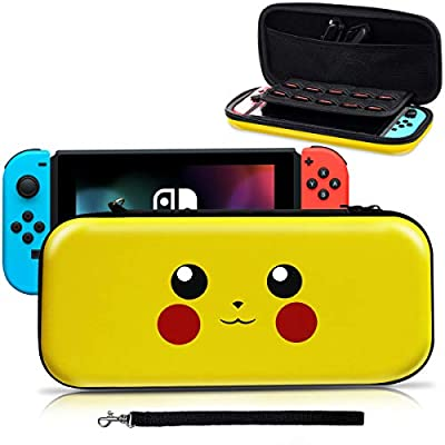 Haobuy Carry Case for Nintendo Switch, [Design for Pokemon Let's Go Pikachu/Eevee Pouch][Full Protective] for Switch Case, Deluxe Travel Case Bag for Nintendo Switch Joy-Con & Accessories