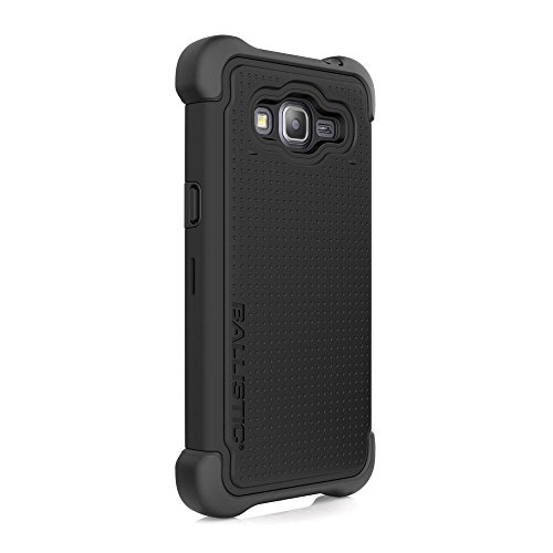 Samsung Grand Prime Case, Ballistic [Tough Jacket Maxx] Six-Sided Drop Protection [Black] 7ft Drop Test Certified Case Screen Protector and Holster Included for Samsung Grand Prime - (TX1648-A06N)