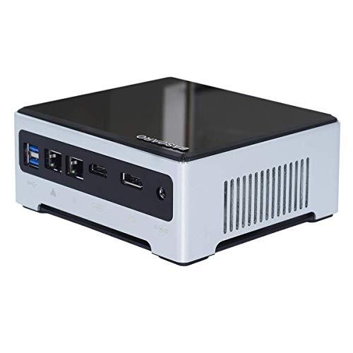 BASOARO Mini PC de séptima generación, Mini Computadora de Escritorio i7 7820HK/HQ, 32G RAM 512G SSD, 2 Gigabit Ethernet, HDMI/DP, 6 USB3.0, BT, WiFi de Doble Banda
