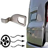 LNIMIKIY Soporte de soporte para VW T5 Bus and Caddy, soporte de repuesto para puerta trasera de coche, furgoneta, camping, accesorios de repuesto (plateado)