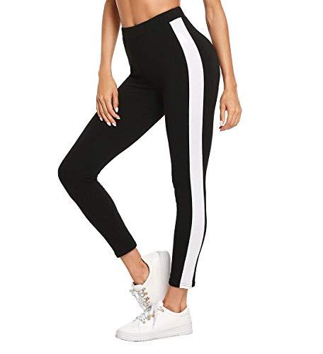 Shocknshop Black Ankle-Length Skinny Bottoms Women Mid Waist Casual Leggings...