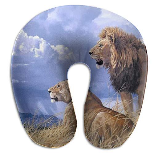 Almohada en Forma de U, Cuello, león, bebé, Viaje, Almohada Multifuncional, Coche, avión