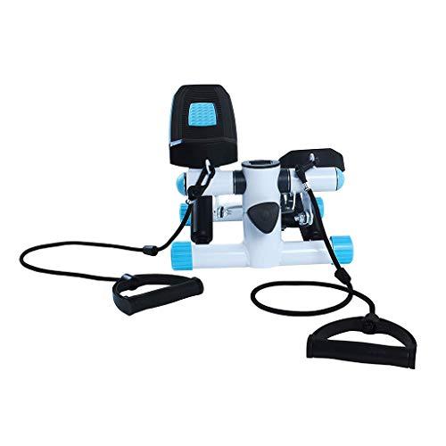 Equipment Indoorcycling Bikes Schritt,Multifunktionaler Hydraulischer Pedalmaschine des Haushalts,Fitnessgeräte Pedaling-Maschine,Anwendbarer Umfang Home Verwendung (Color : Blue)