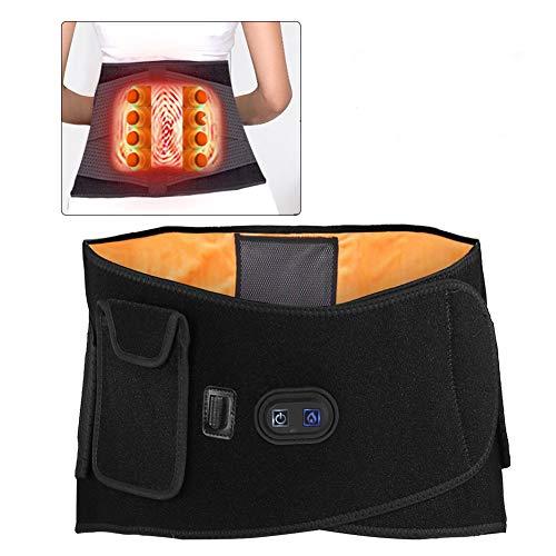 Salmue Lordosenstütze Gürtel, Moxibustion Heizung Massage Heizkissen Wärmegürtel, Infrarotmassage Hot Compress Taille Rückenschmerzen, Rückenstütze für Fitnessstudio und Arbeit