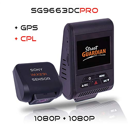 Street Guardian SG9663DCPRO 2020 Dual Channel Wi-Fi Dash Camera with GPS, CPL & 64GB MicroSD Card