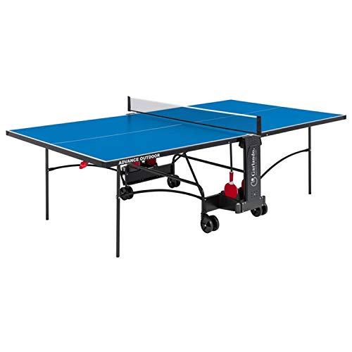 Garlando Tavolo da Ping Pong Advance Outdoor con Ruote per Esterno Blu