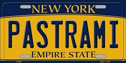 Preisvergleich Produktbild TammieLove Nummernschild Pastrami New York State Hintergrund,  Neuheit Nummernschild,  15 x 30 cm