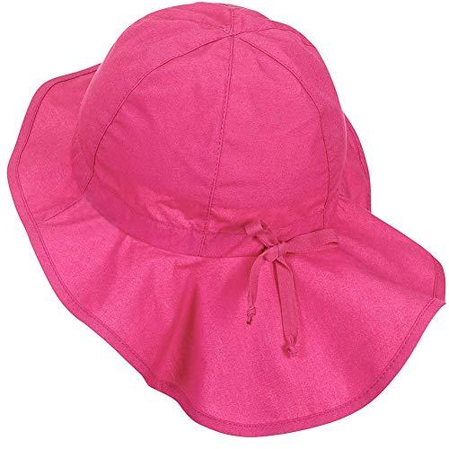 Lazzon Sombrero de Sol Bebé con Protección de Cuello Niños Niñas Verano Gorra para...