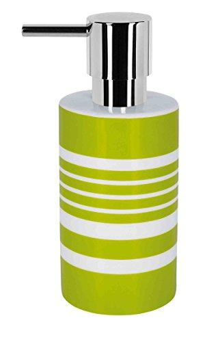 Spirella, Verde colección Tube, Dispensador de jabón líquido 7,0 x 7,0 x 16,0 cm, Porcelana, 7.0 X 7.0 X 16.0 Cm