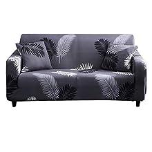 HOTNIU Funda Sofa 3 Plazas Fundas de Sofa Elasticas Fundas para Sofá Ajustables Estampada Cubre Sofa con 1 Funda de Cojín, Tres Plazas, Pattern #Hyy