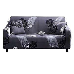 HOTNIU Funda Elástica de Sofá Funda Estampada para sofá Antideslizante Protector Cubierta de Muebles (Tres Plazas, Pattern #Hyy)