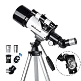 Stilnend Telescope 70mm Aperture 500mm AZ Mount Astronomical Refractor Telescope for Kids Adults & Beginners Fully Multi-Coated Optics Portable with Tripod Phone Adapter