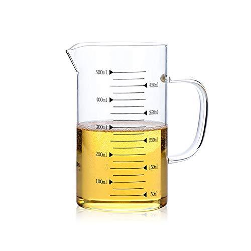 A-myt Chic y Exquisito Alturas Resistentes al Calor Borosilicate Copa de medición de Vidrio con Escala para Cocina doméstica Cocina Niños Dieta Cocina Cocina Accoupo