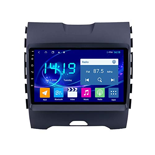 DSAK Coche Multimedia Player Coche GPS Navigation Es Adecuado para Ford Edge 2015-2018 Coche Android Android Gran Pantalla De Inversión Video All-In-One 4G + 64G