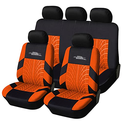 Funda para Asiento Coches, Cubiertas de asiento de automóvil universales de la pista de la pista del neumático que se adapta a la mayoría de los protectores de asiento del asiento del asiento del vehí