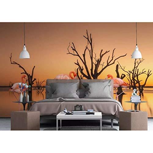 Shuangklei stijlvolle moderne minimalistische met de hand getekend behang tropische plant tv achtergrond behang voor woonkamer 350 x 250 cm.
