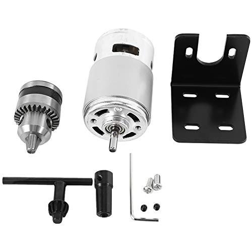 Binchil Motor 775 de 12 a 24 V con miniatura de taladro manual y soporte de montaje 775 – Motor de 10000 rpm para montaje en casa.