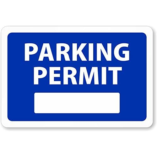 This is a picture of Printable Parking Pass intended for editable