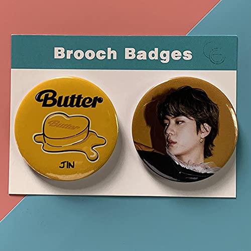 ALTcompluser 2 piezas BTS Badge Br00ch, Kpop Periférico Persona Periférica Redondo...