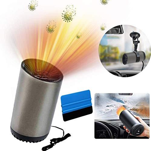 U-N Auto Heizlüfter, 12V 200W Auto Heizung und Kühlventilator, Car Heater, Auto Defroster Demister, 2-in-1 Tragbar Windschutzscheiben Defroster Demister