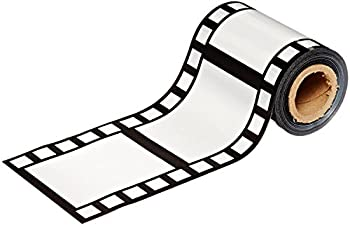 PMU Filmstrip Poly Decorating Material Party Accessory 3-Inch by 50-Feet  3-Pack ,Black/White