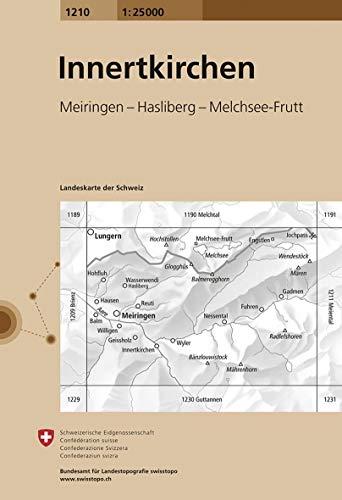Swisstopo 1 : 25 000 Innertkirchen (Landeskarte Der Schweiz)