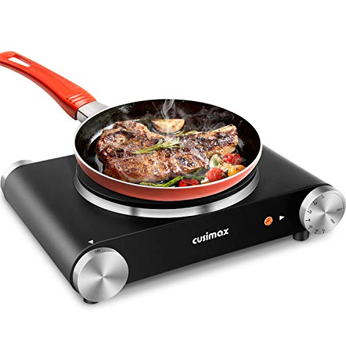 CUSIMAX Portable Hot Plate Burner for Electric Cooking, 1500w Single...