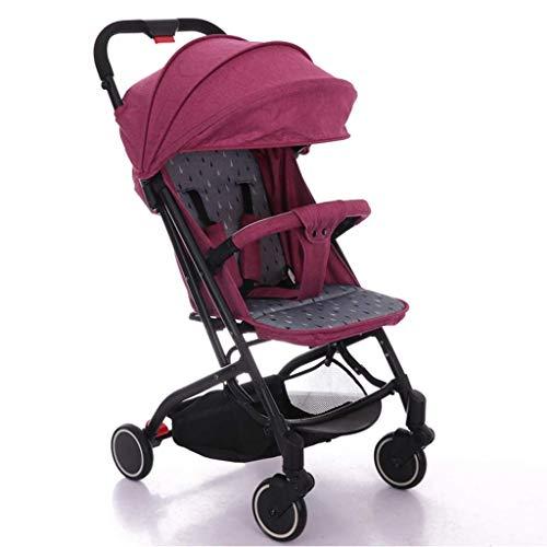 Gymqian Kinderwagen, Beweglicher Leichtgewichtler Travel Pram, Große Wasserdicht Schirmdach Für Säuglingskleinkind, Jungen, Mädchen Unisex gdfgd/Lila