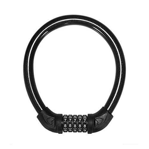 SGSG U-Lock Mount, Bold Steel Cable/Zinc Alloy Lock/Bicycle Lock Chain Bike Lock / 5-dígitos Password Unlock/keyless/Motorcycle Lock Adecuado