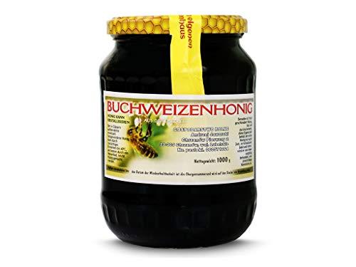 Buchweizenhonig 1 kg - 1000 g Honig - Direkt vom Imker - 1 kg Buchweizen Roher, Frisch Honig - ohne Zusätze - Premium Qualität