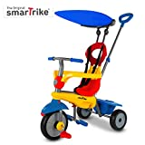 smarTrike Zoom Toddler Tricycle for 1,2,3 Year Olds - 4 in 1 Multi-Stage Trike, Yellow/Red/Blue