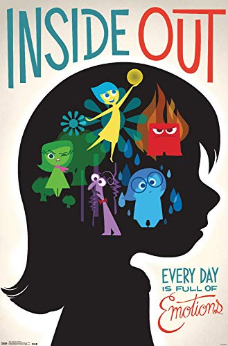"""Trends International Inside Out-Emotions Premium Wall Poster, 22.375"""" x 34"""""""