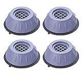Fencelly Soporte para lavadora y secadora con cancelación de ruido y golpes, almohadillas antivibratorias para reducir el ruido para mesas de refrigeradores, 4 piezas/set