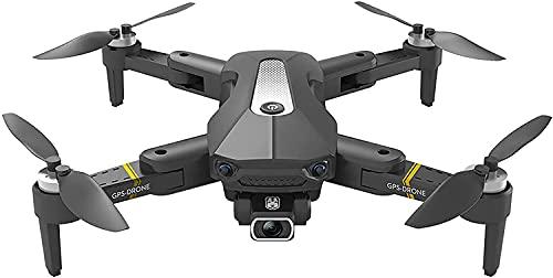 GPS-Drohne mit Kamera für Erwachsene 4K UHD FPV, Quadcopter mit Auto Return Home, Follow Me, Wegpunktfunktionen, inklusive Tragerucksack (Schwarz)