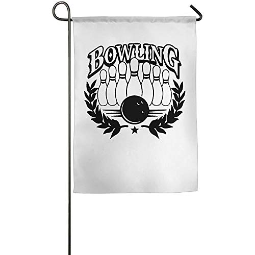 AOHOT Garten Flaggen,Bowling Garden Flag Indoor & Outdoor Decorative Flags for Parade Sports Game Family Party Wall Banner