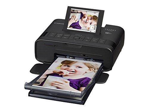 Canon Selphy CP1300 - Impresora fotográfica inalámbrica (Apple AirPrint, Mopria, pantalla abatible de 8.1 cm, tintas de 3 colores, 300 x 300 ppp) negro
