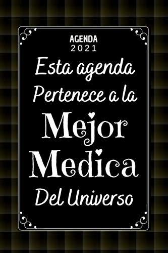 Mejor Medica AGENDA 2021: Agenda 2021 Semana vista A5 , 12 meses , una Semana en dos Páginas , Diario Organizador Planificador , Regalo Mujer Medico Medica
