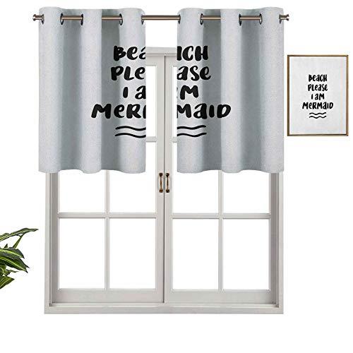 Hiiiman Cortinas cortas, con bloqueo de luz, diseño pop, playa, por favor el Internet en bromas frases de confianza, juego de 2, cortinas de ventana de 42 x 24 pulgadas para sala de estar