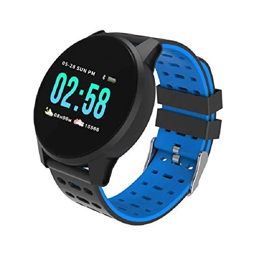 SOLKA Tracker Fitness Armband Schrittzähler Sportuhr Pulsmesser 1,3-Zoll-IP67 wasserdicht -Display, Smartwatch Aktivitätstracker Pulsuhren Uhr Smart Watch Uhr für Damen Herren(Blau)