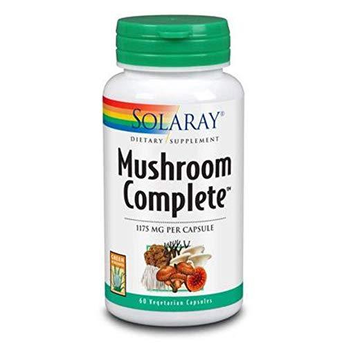 Solaray Mushroom Complete Supplement, 1175 mg | 60 Count