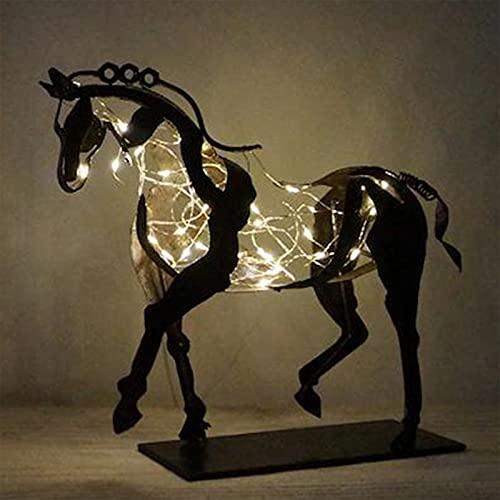 AIORNIY Deko Statue Pferd Metall Dreidimensionale Durchbrochene Adonis-Pferd-Skulptur Pferde-Skulptur-Adonis Desktop-Dekorative Ornamente