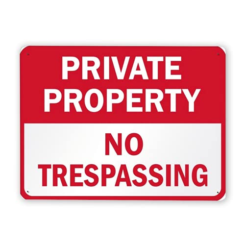 Warning Sign,Private Property Temporary Sign Pack Private Property No Trespassing,Traffic Sign Road Sign Business Sign 12x16 Inch Aluminum Metal Tin Sign