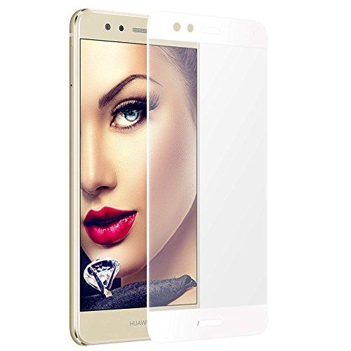 mtb more energy Gewölbtes 3D Kombi-Schutzglas für Huawei P10 Lite (5.2'') - weißer Softframe - 9H - 2.5D - Curved Full Display Glasfolie