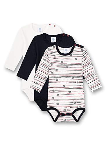 Sanetta Baby-Jungen Body Mehrfachpack Broken White Kleinkind Unterwäsche-Satz, beige, 086