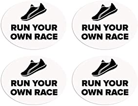 BibBoards SNAP & Lock for Event/Race Bibs Pinless Race/Event Bib Number Fasteners (Safety Pin Replacement) (Run Your Own Race)